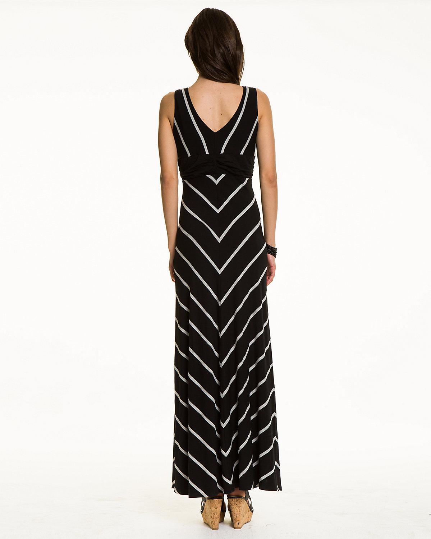 4d8438419e ... Stripe Jersey V-neck Maxi Dress - Lyst. View fullscreen
