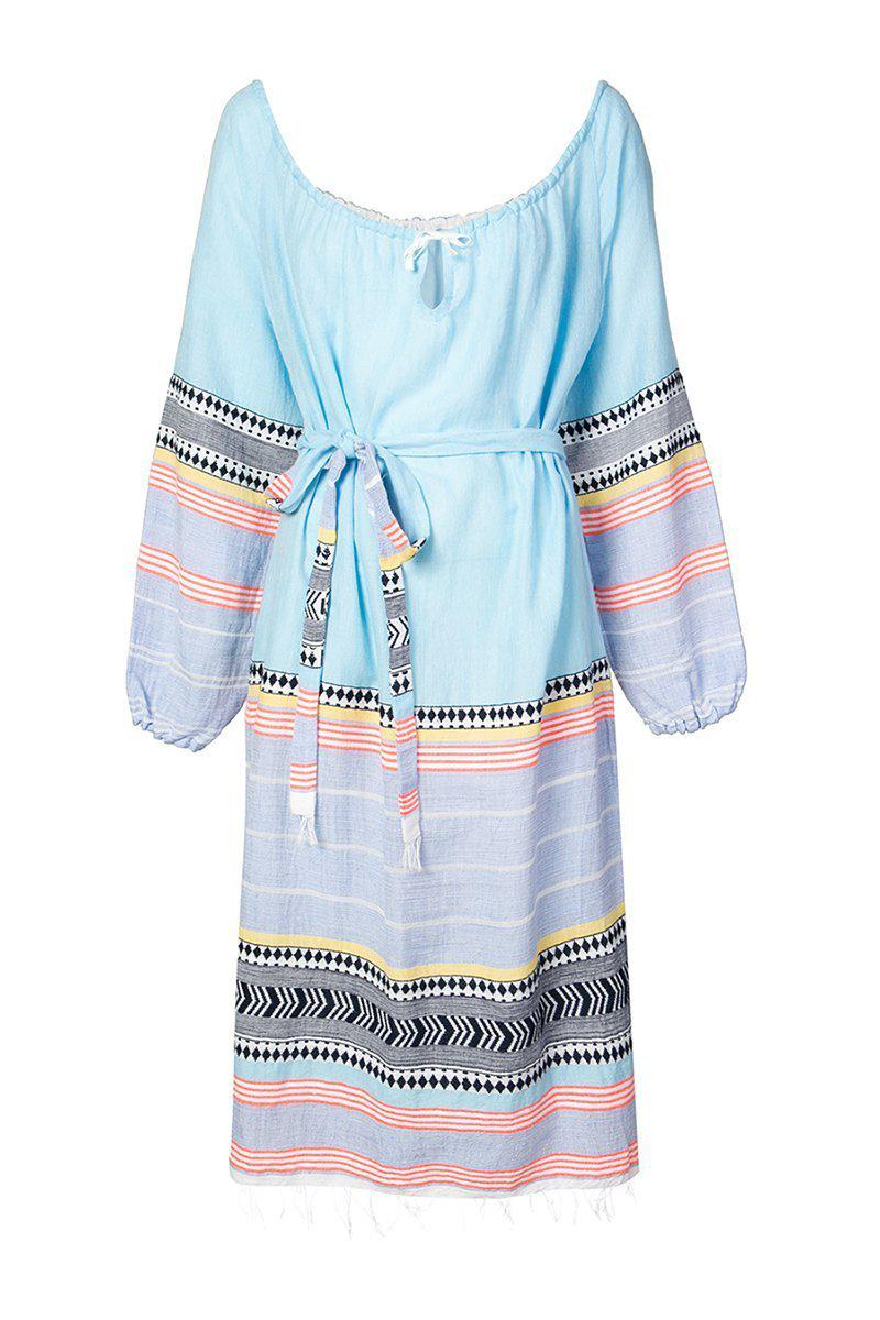 652744c4c90e Lyst - lemlem Striped Belted Dress in Blue - Save 40%