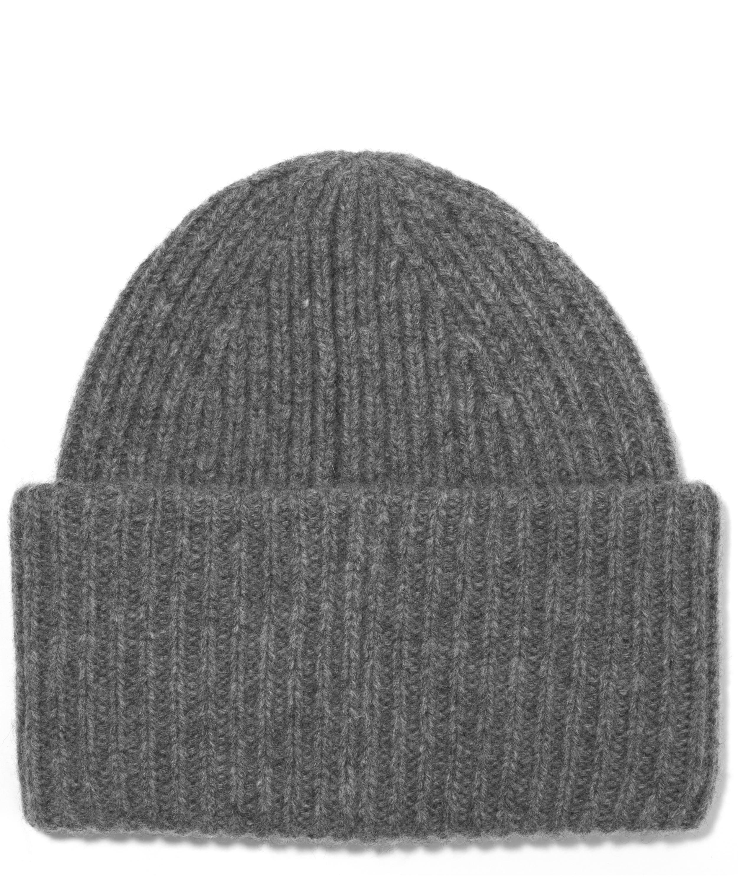 Acne Studios Ribbed Wool Pansy Beanie Hat in Gray for Men - Lyst 7eb8dc2cc4e7