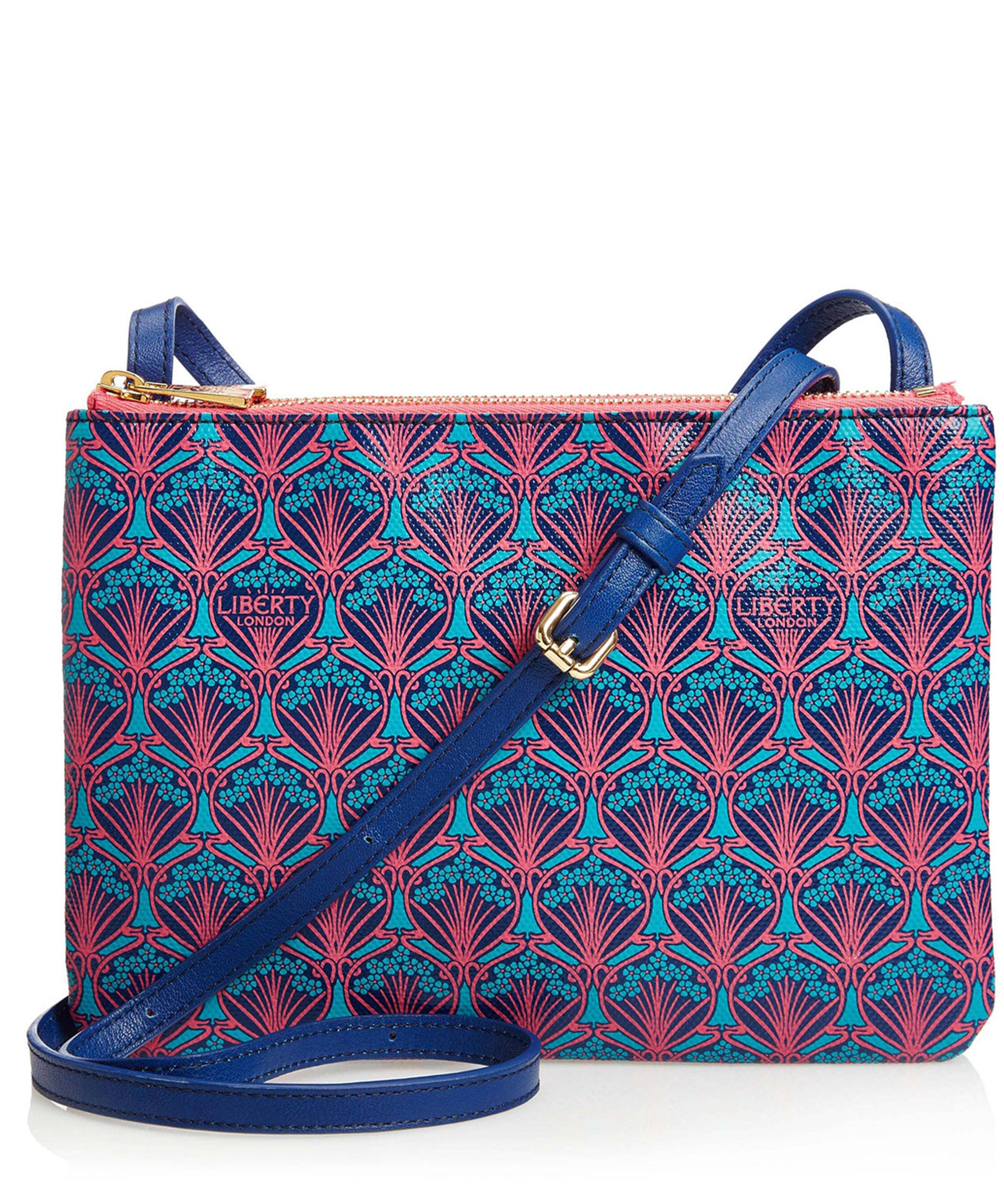 Liberty Bayley Cross Body Pouch In Iphis Canvas in Navy (Blue)