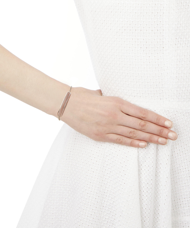 c4bdde3842ece Women's Metallic Silver Baja Rose Quartz Facet Bracelet