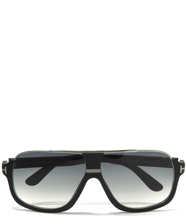 Tom Ford Elliot Square Aviator Sunglasses in Black for Men