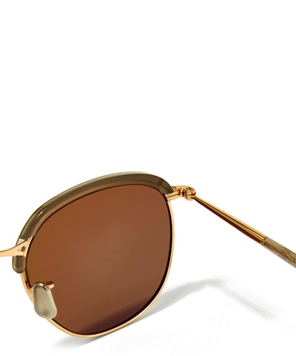 Eyevan 7285 Brown 735-49 Clubmaster Sunglasses