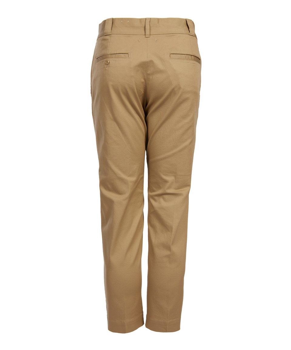 Beams Plus Cotton Beige Slim Worker Trousers in Natural for Men