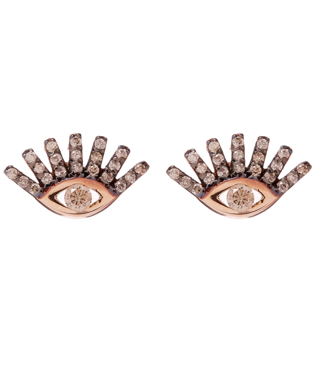 Kismet by Milka Diamond Evil Eye Single Stud Earring kpzN2Cm