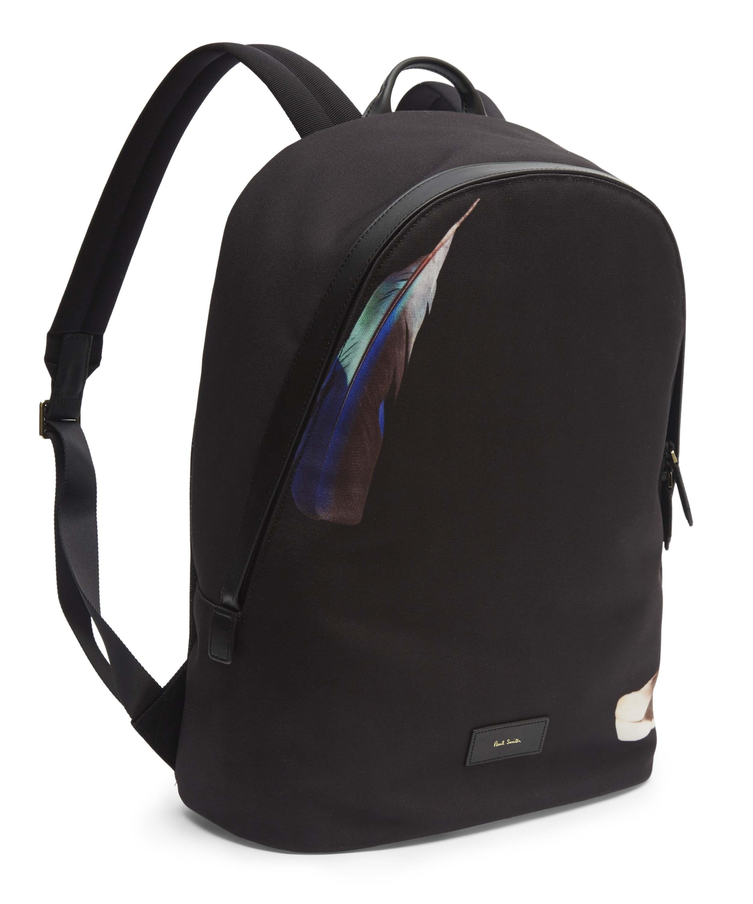 Paul Smith Cotton Feather Backpack in Black for Men