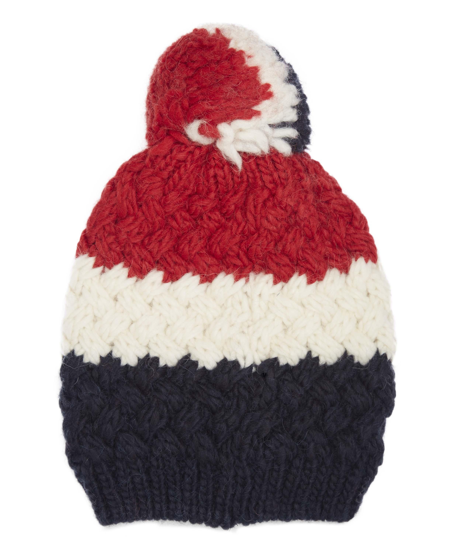 bf768f47a Moncler Tricolour Pom Pom Hat for Men - Lyst
