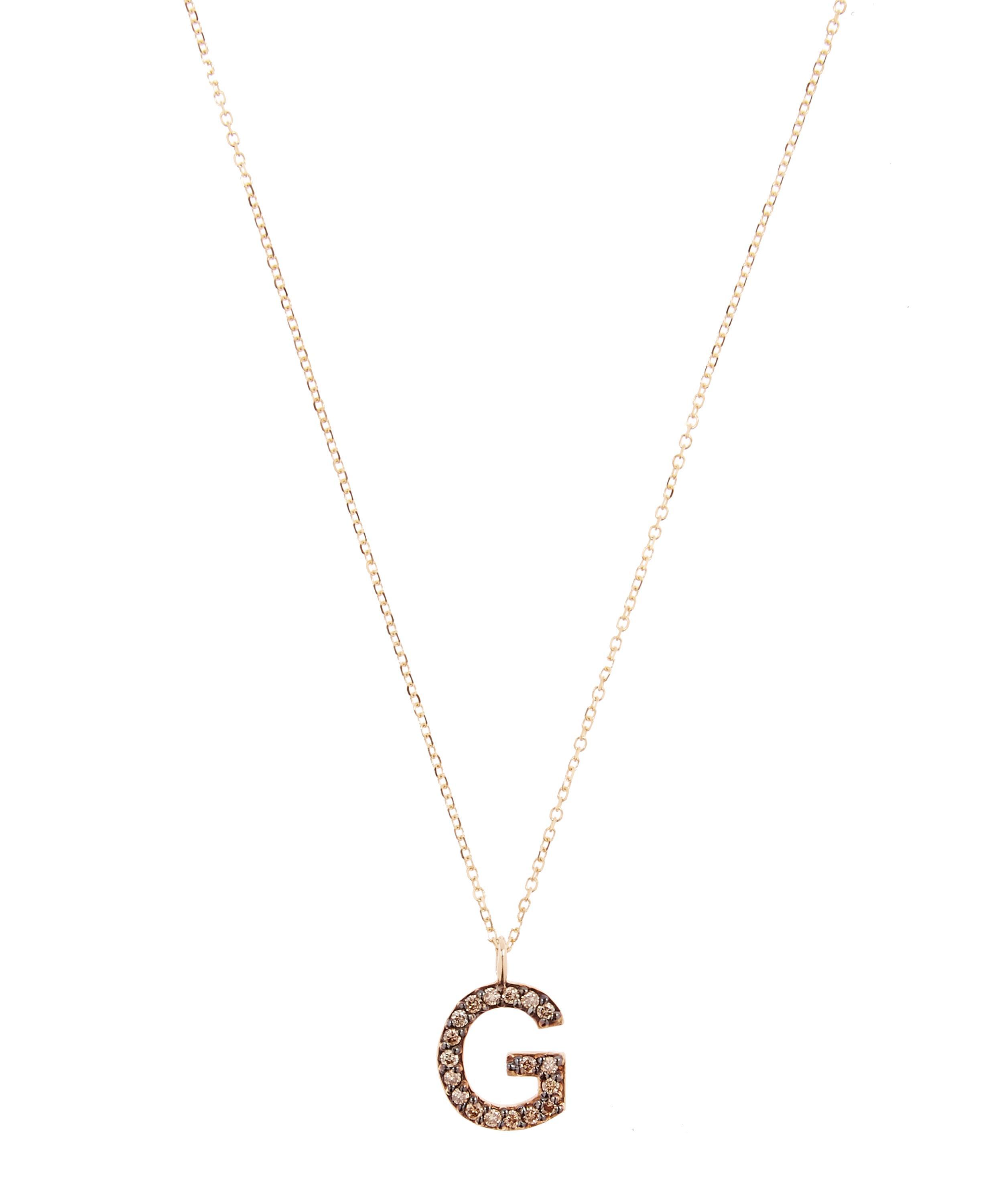 pendant necklaces necklace matte g studio e feather letter jewelry products gold b browse