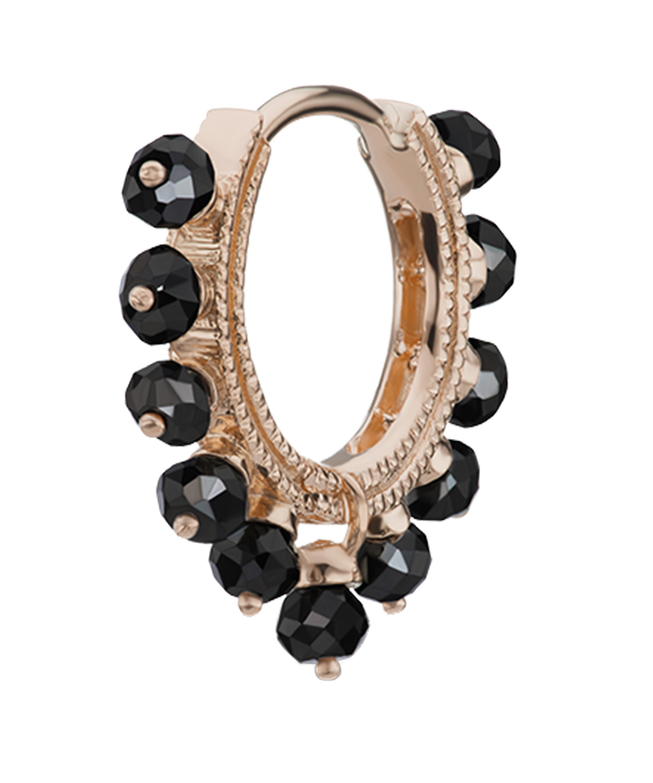 "Maria Tash 5/16"" Black Diamond Coronet Hoop Earring"