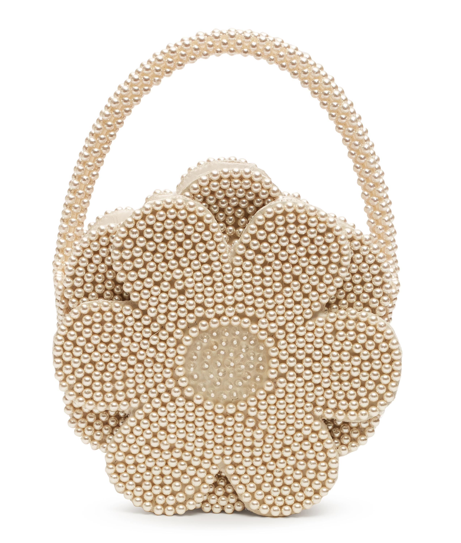 Ercup Faux Pearl Flower Bag