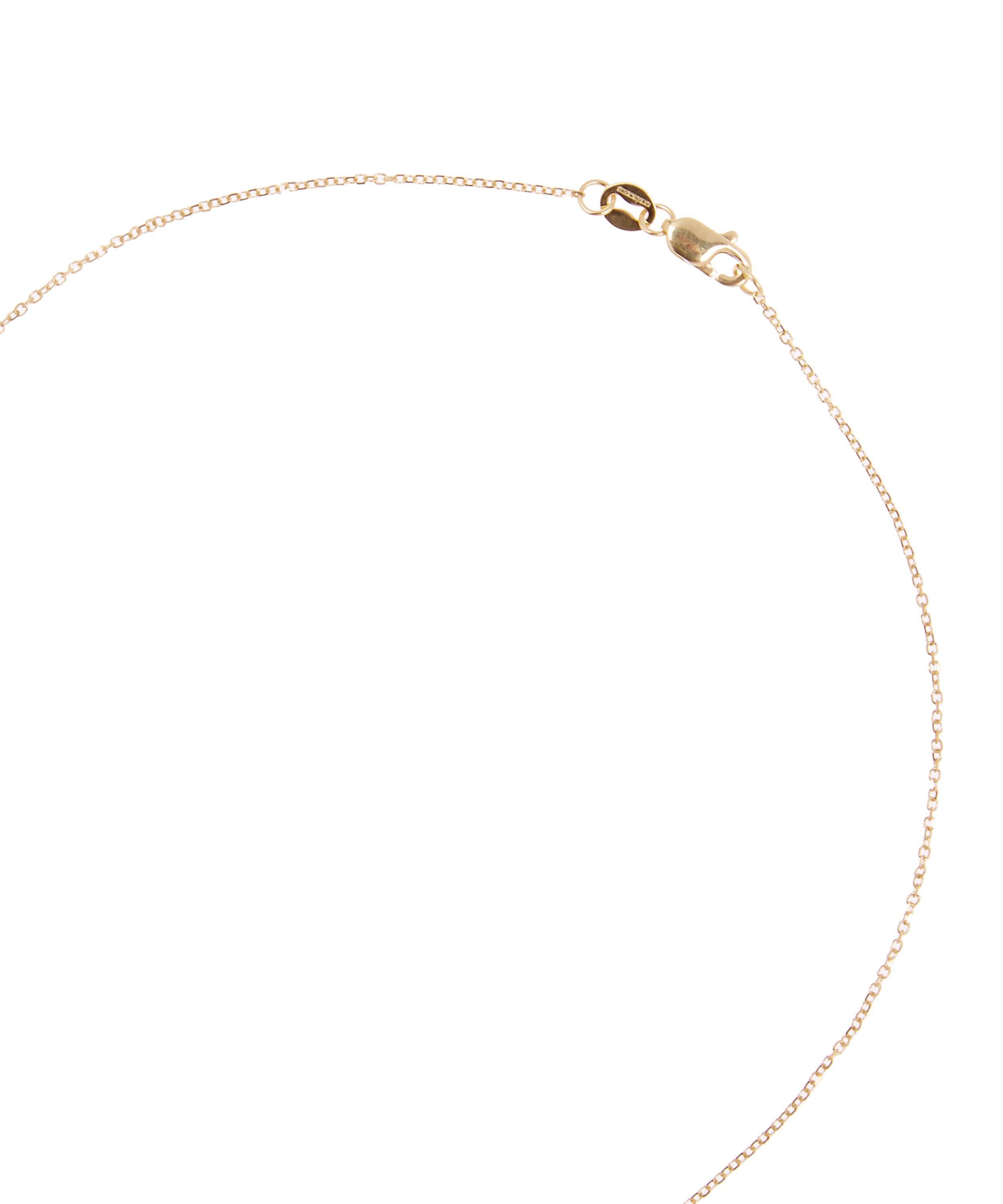 KC Designs Yellow Gold Champagne Diamond Letter F Necklace in Metallic
