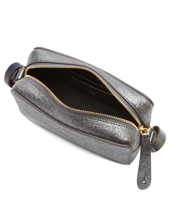Anya Hindmarch Leather Circle Mini Crossbody Bag