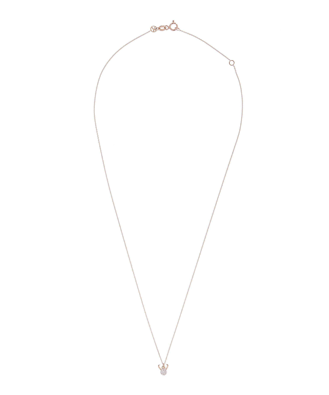 Kismet by Milka Rose Gold Horoscope Capricorn White Diamond Pendant Necklace in Metallic