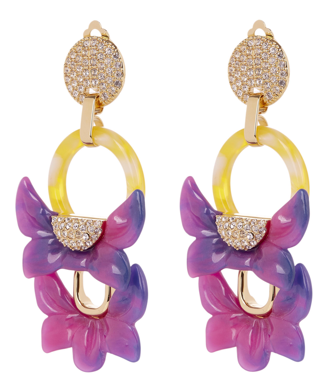 Lele Sadoughi Rio Crystal Floral Drop Clip-On Earrings d2V4OEfe