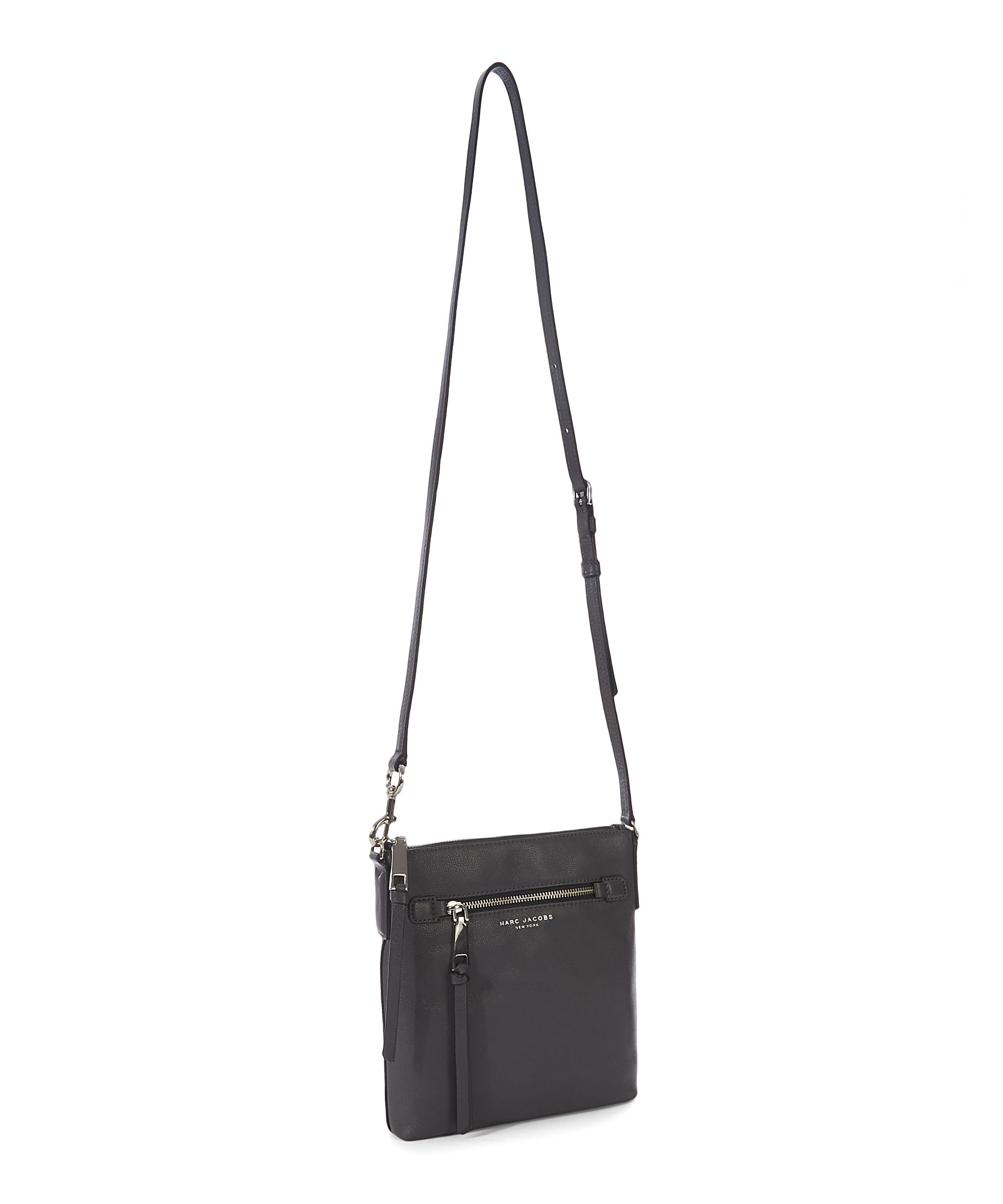 Marc Jacobs Leather Recruit North-south Crossbody Bag in Black
