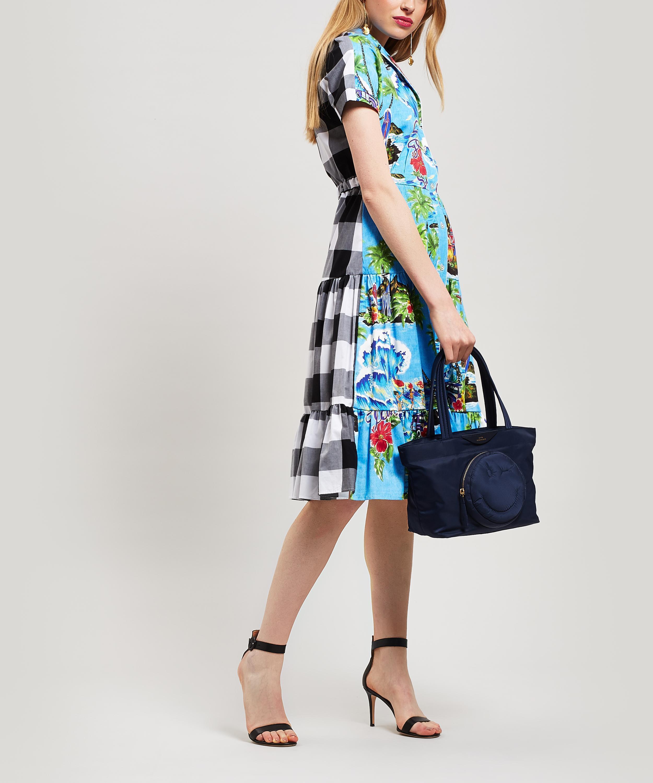 98ffb25c Stella Jean - Blue Hawaiian Check Shirt-dress - Lyst. View fullscreen