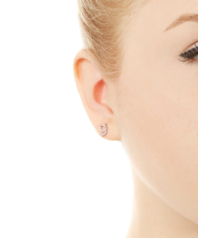 KC Designs Rose Gold Diamond G Single Stud Earring