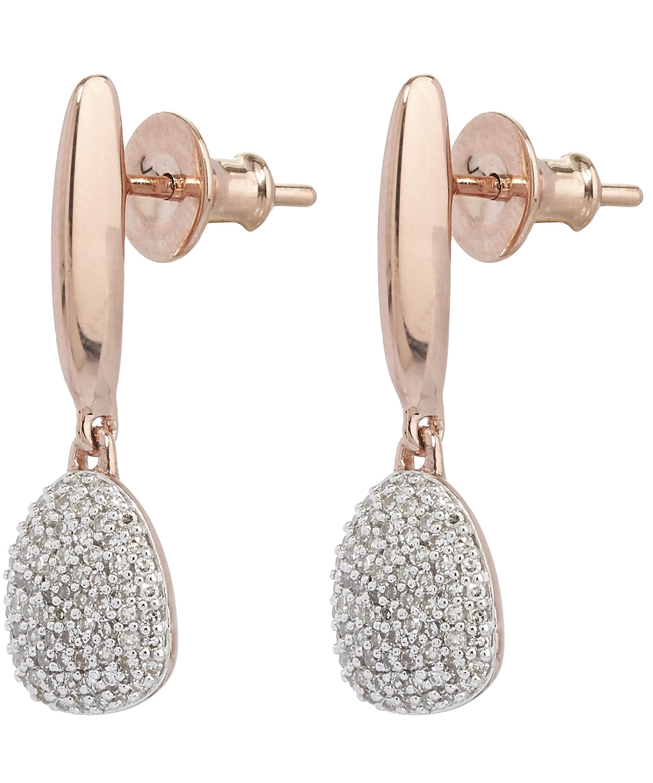 9516802ee4ecd Monica Vinader Metallic Rose Gold Vermeil Nura Small Pebble Diamond Drop  Earrings
