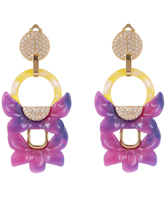 Lele Sadoughi Rio Crystal Floral Drop Clip-On Earrings qgBKT