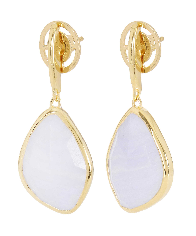 Rose Gold Siren Large Nugget Earrings Grey Agate Monica Vinader Ad2XvK0D4