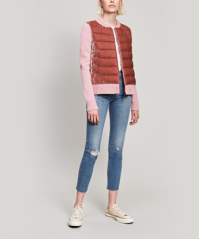 Knitted Noir Front Moncler Jacket Velvet 1qxgYpw
