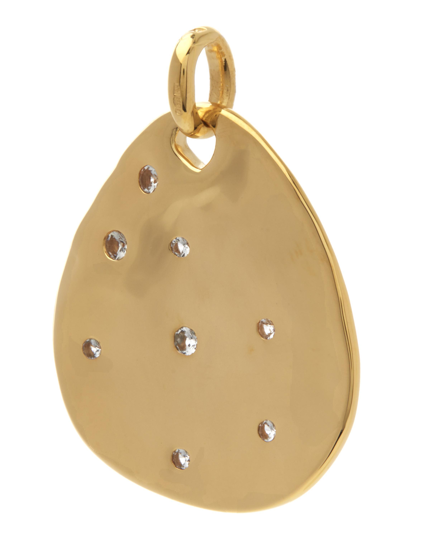 Monica Vinader Gold-plated White Topaz Siren Scatter Teardrop Pendant in Metallic