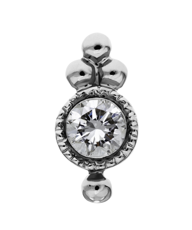 2e7186b49 Maria Tash Diamond Four-ball Trinity Threaded Stud Earring - Lyst