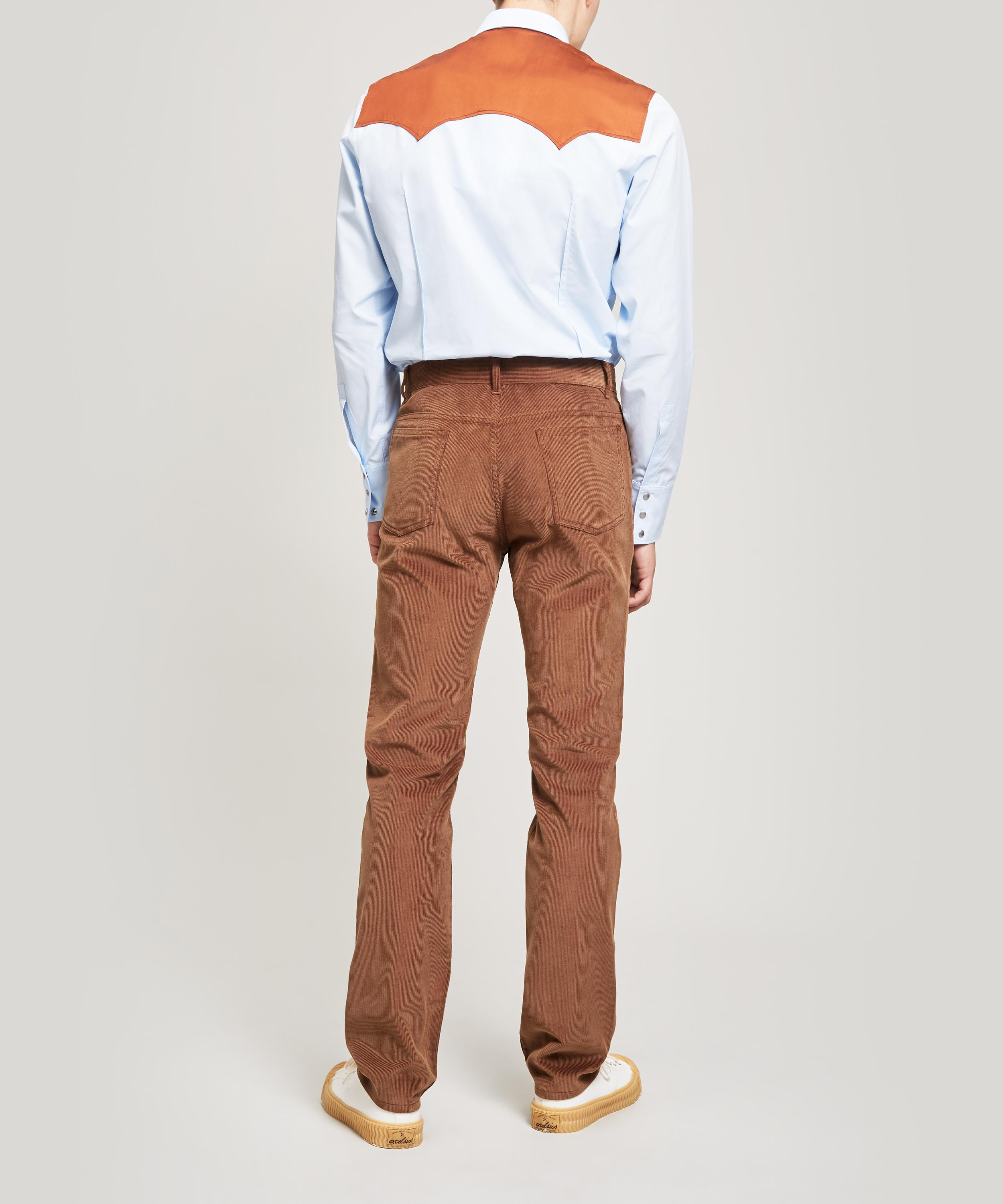 Maison Margiela Straight Leg Corduroy Trousers in Tan (Brown) for Men