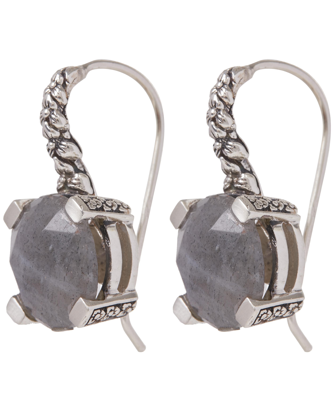 Stephen Dweck Galactical Silver Labradorite Drop Earrings vKB2RIA