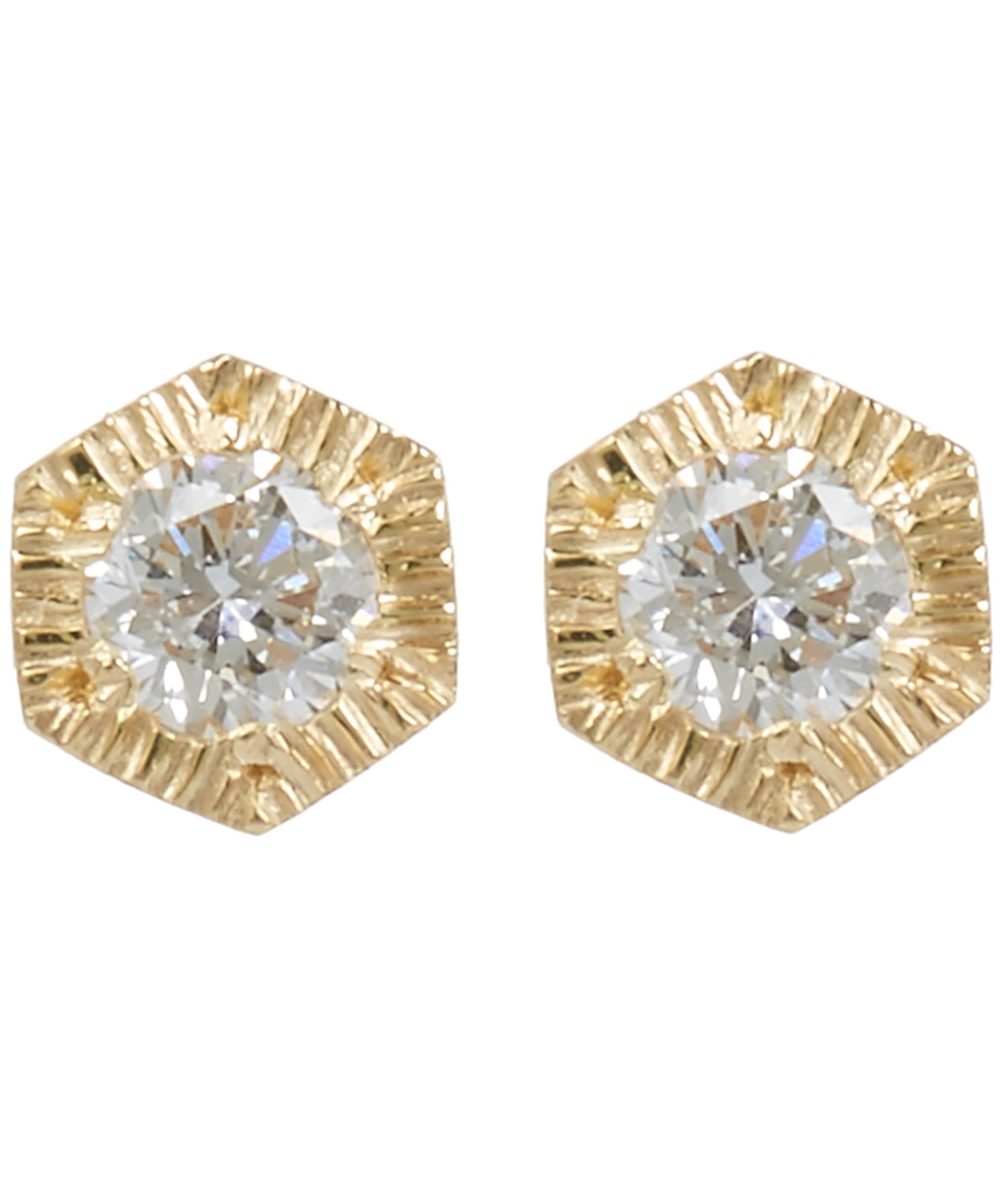 web simple gold yellow baby tds vrai white oro stud studs earring diamond tiny classic products