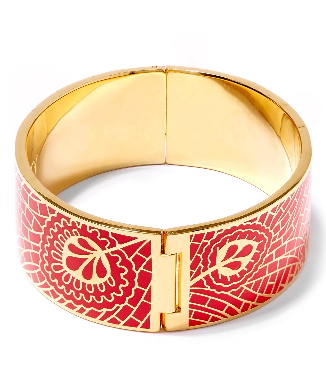 Liberty Hera Enamel Solid Cuff in Red