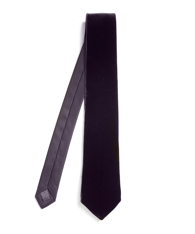 Lanvin Velvet Tie In Blue For Men Lyst
