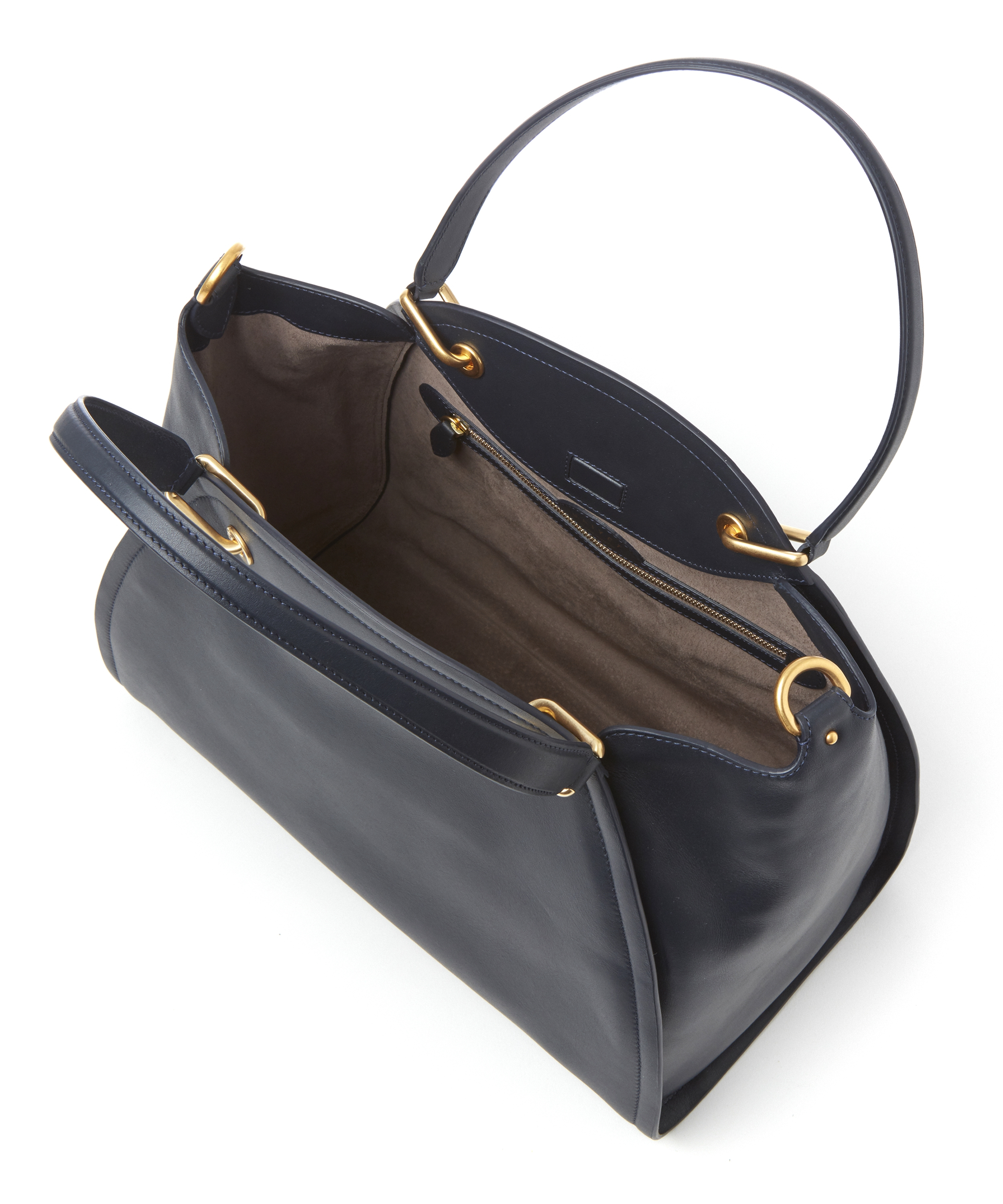 Maiyet Leather Small Peyton Tote Bag in Navy (Blue)