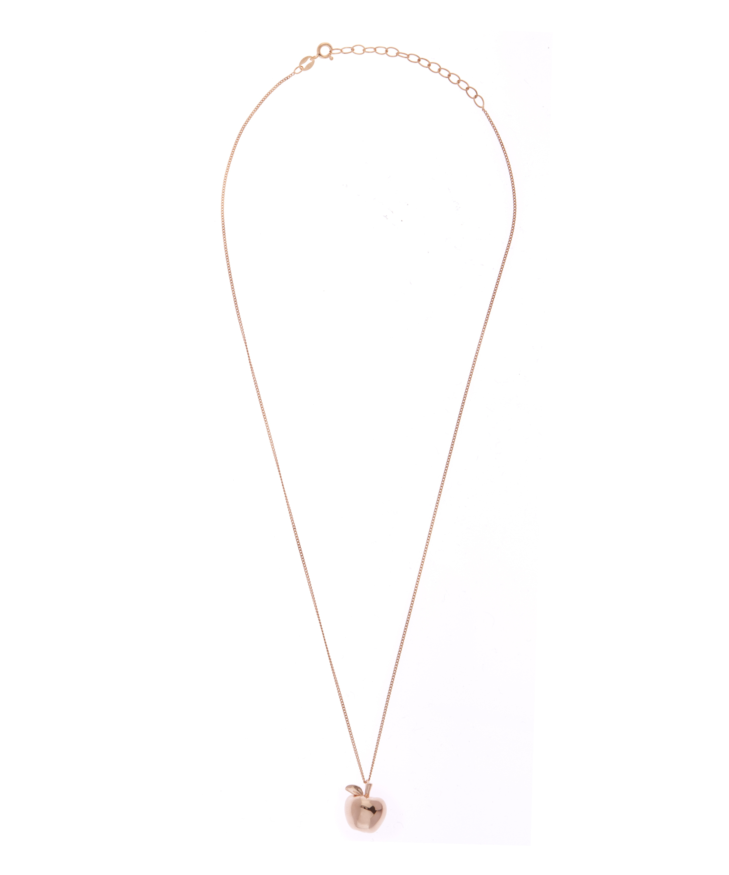 True Rocks Small Rose Gold Plated Apple Necklace