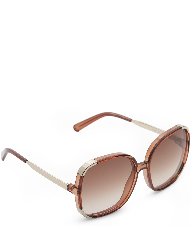 Chloé Modified Rectangle Sunglasses