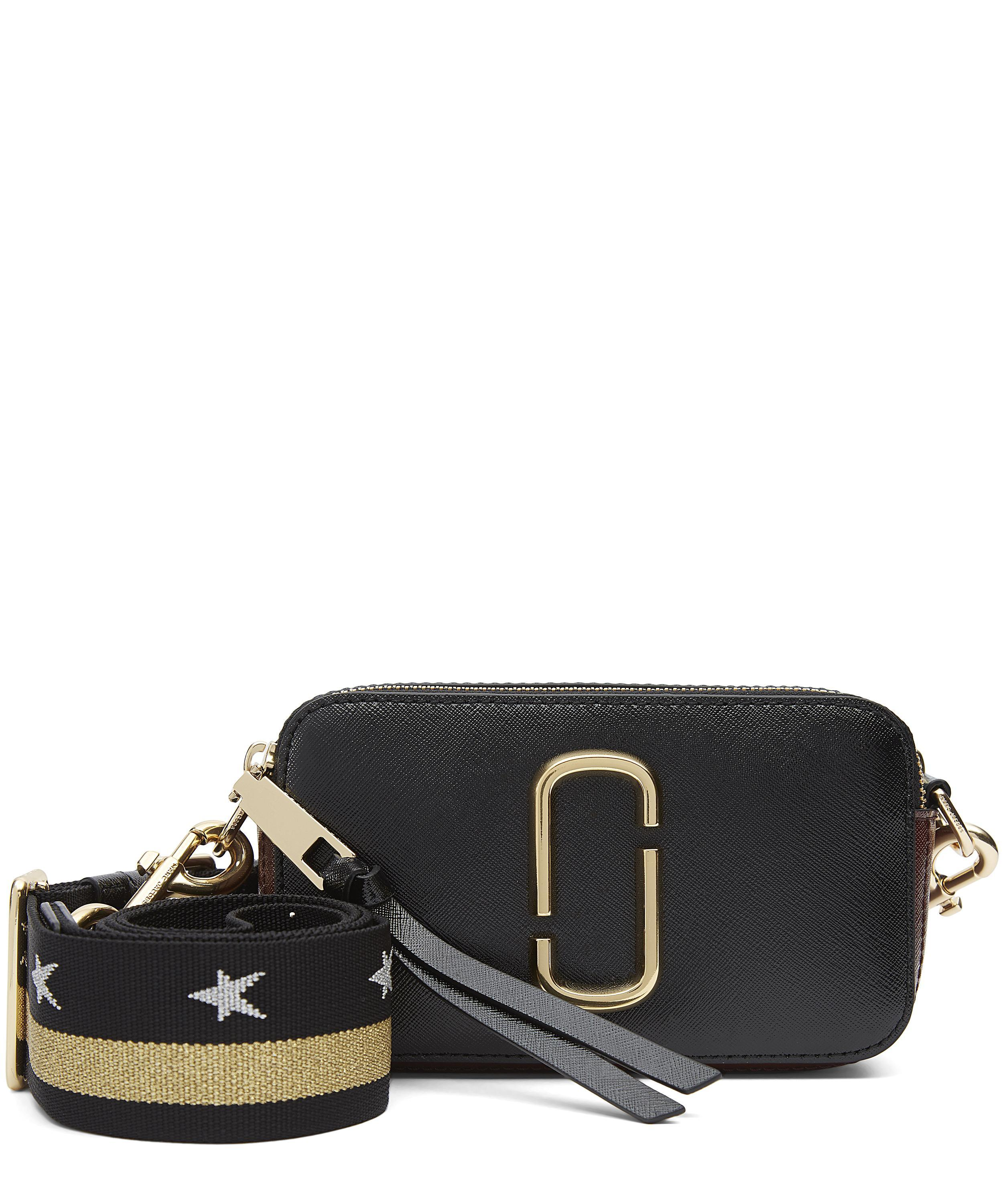 Marc Jacobs Leather Snapshot Small Camera Crossbody Bag Black