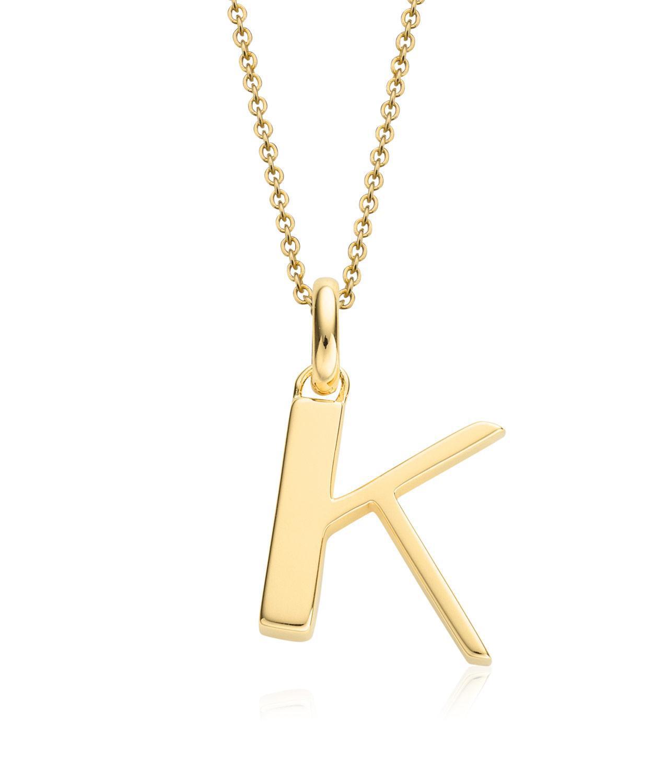 Monica Vinader Gold Vermeil Alphabet Pendant A-z in k (Metallic)