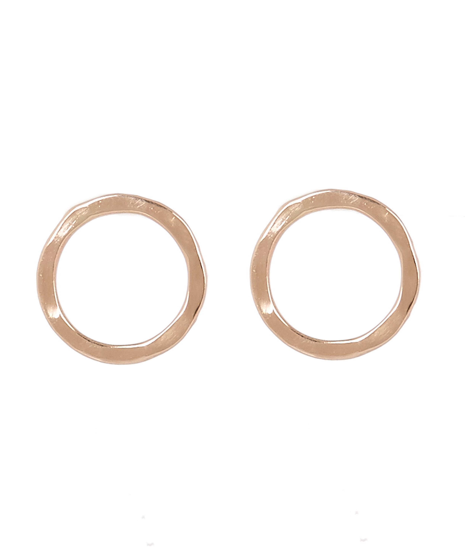 03fc29308 Lyst - Melissa Joy Manning Gold Round Stud Earrings in Metallic
