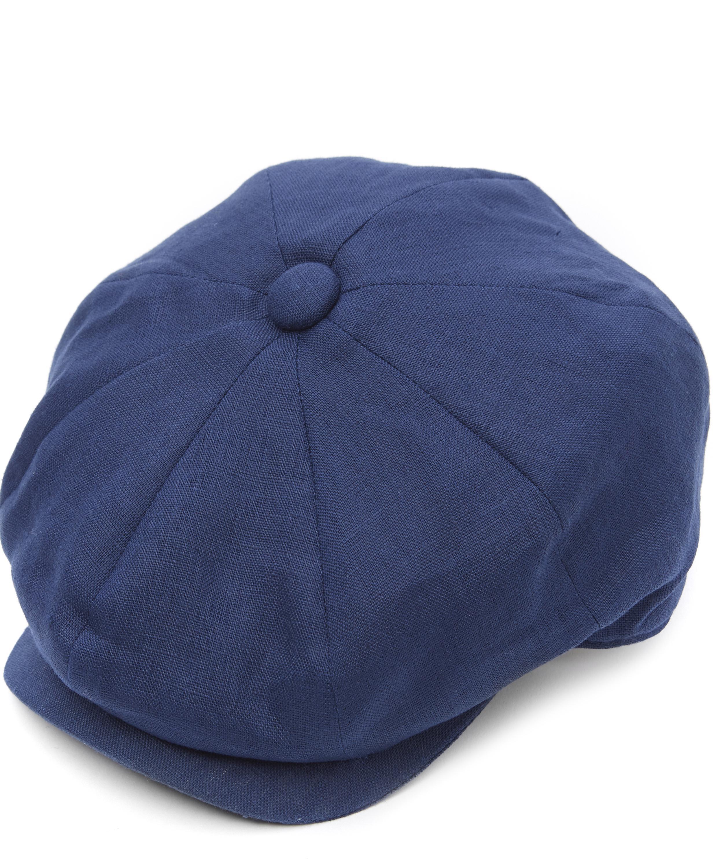 bdc9bcac4521c Christys  8 Piece Linen Baker Boy Hat in Blue for Men - Lyst