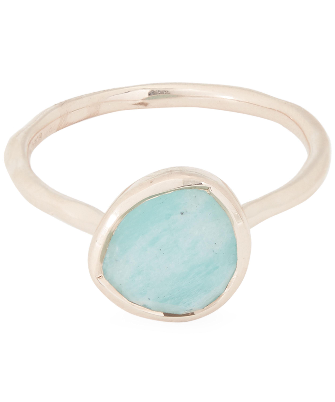 0560f579cf843 Women's Rose Gold Vermeil Siren Amazonite Stacking Ring