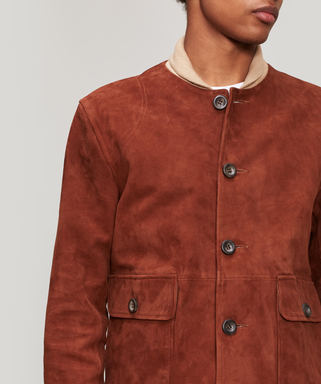 c598bd7d7 Oliver Spencer Multicolor Gandy Suede Jacket for men