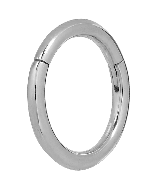 "Maria Tash 1/4"" Plain Hoop Earring in White Gold (Metallic)"