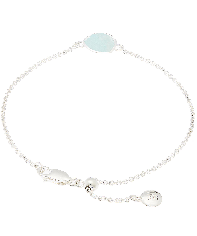 04aab64fb7f53 Women's Metallic Silver Amazonite Siren Fine Chain Bracelet