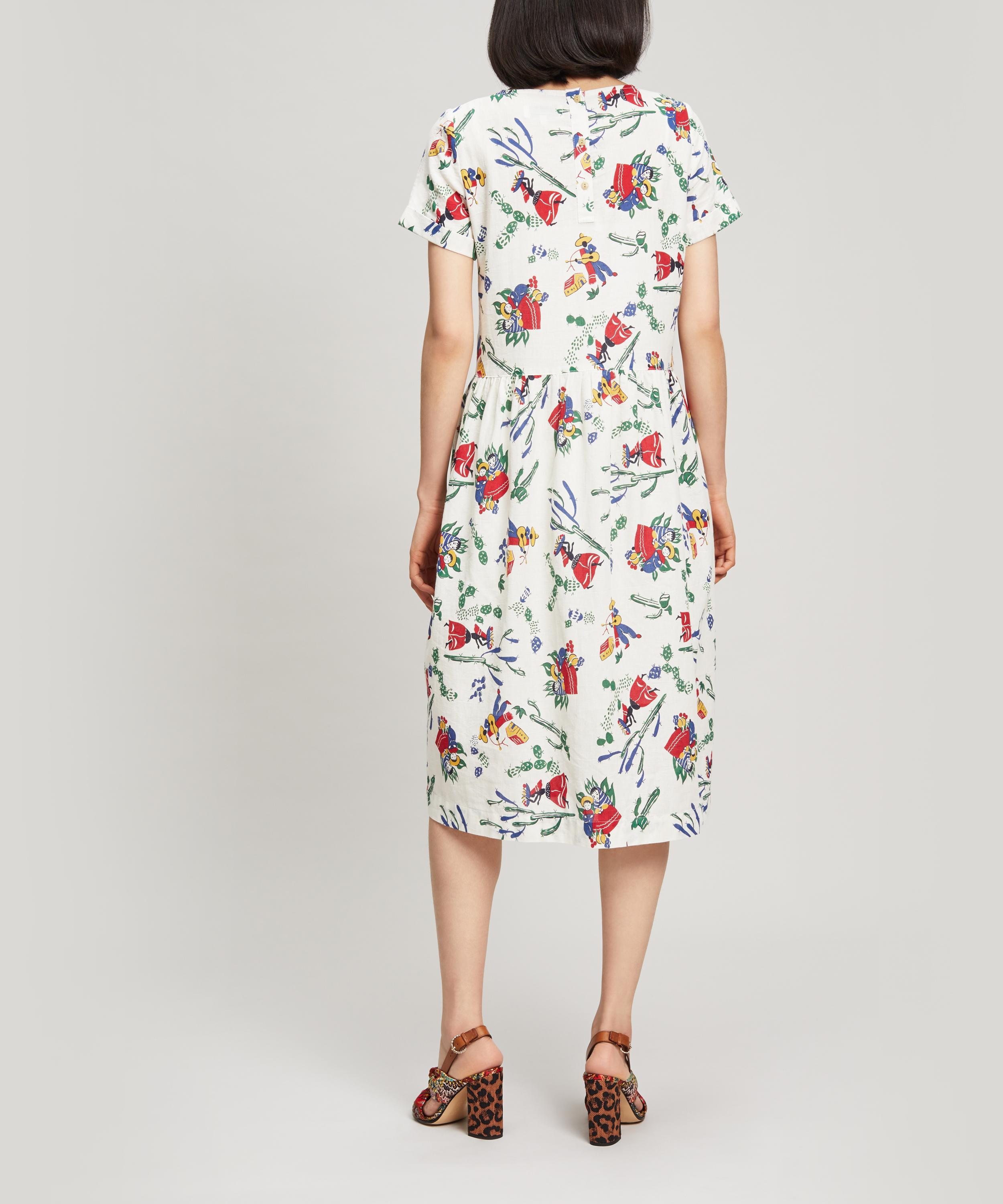 Ymc Mexican Dress Print Cotton In Lyst Perhacs White IHED29WY