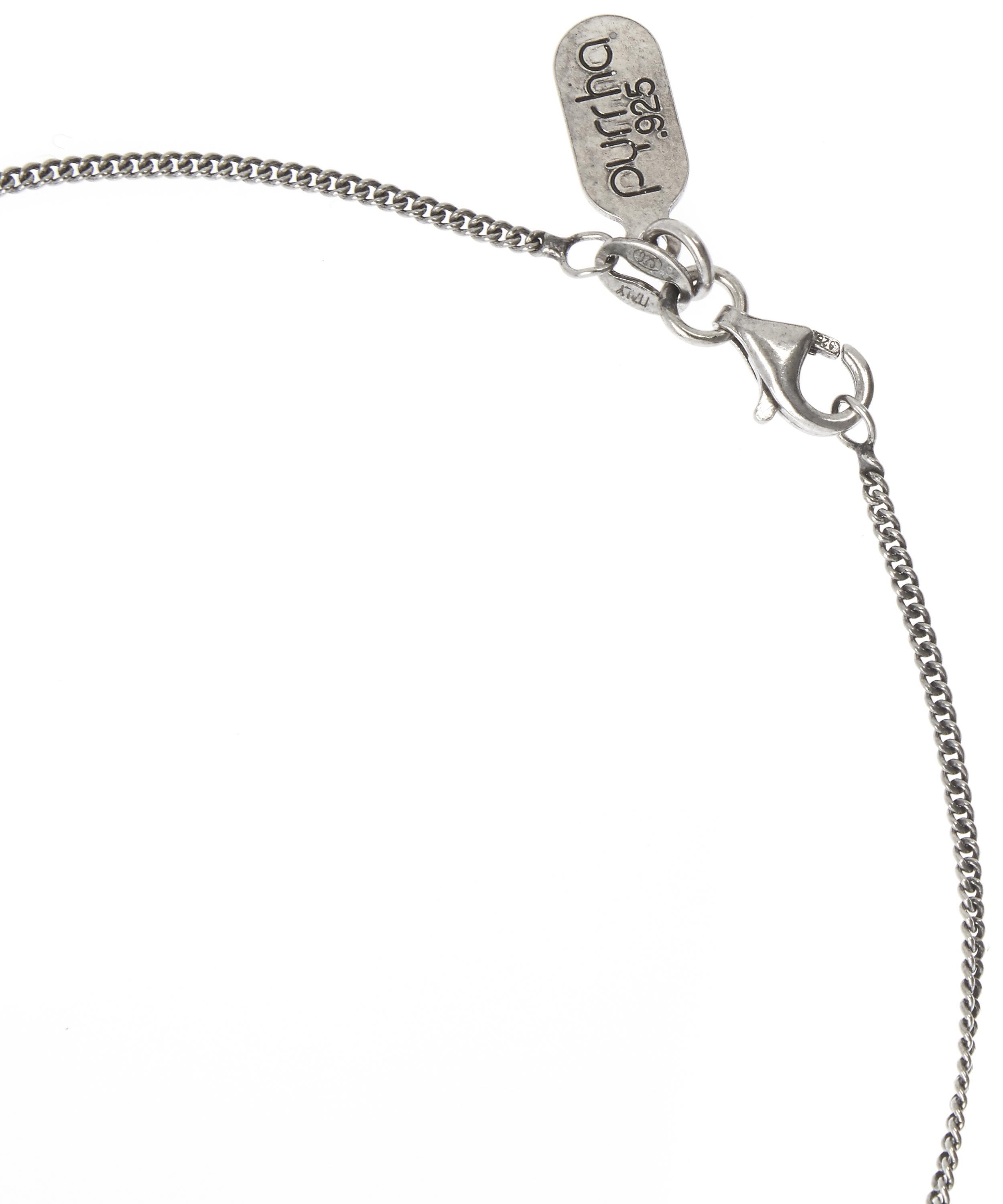 Pyrrha Linen Heart Of Courage Necklace in Silver (Metallic)