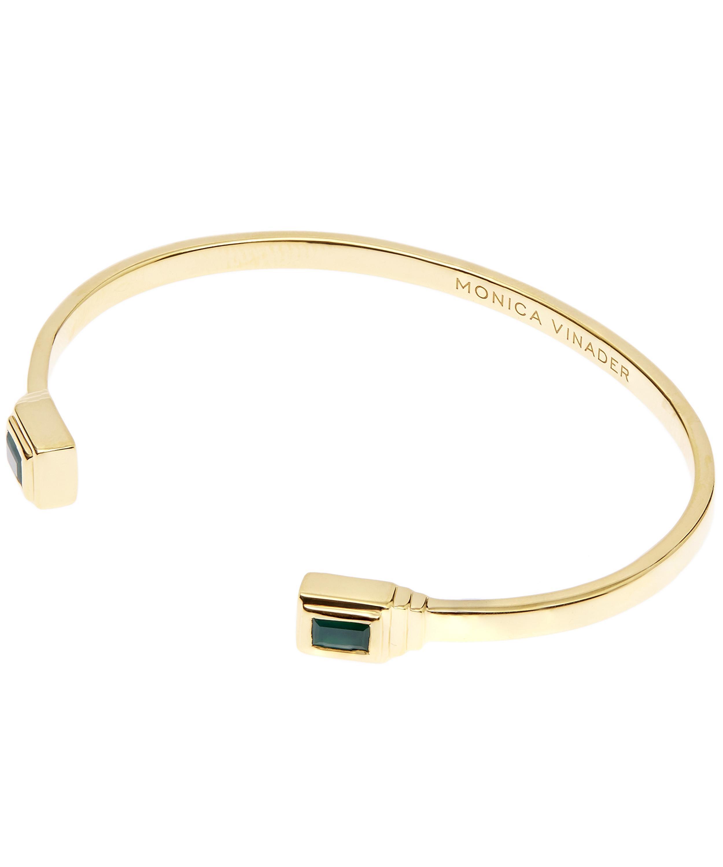 Gold Baja Deco Bracelet Green Onyx Monica Vinader Fllr24Ust