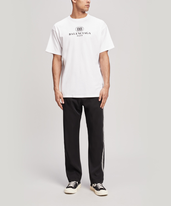 a71794bd Balenciaga Mode Logo T-shirt in White for Men - Save 3% - Lyst