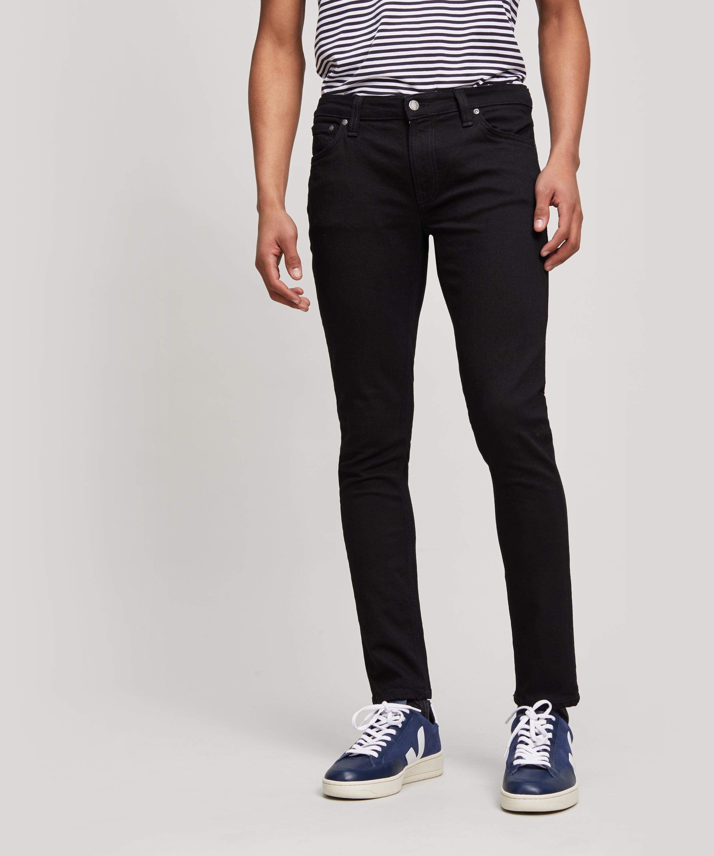 Nudie Jeans Mens Skinny Lin Black Stone Pwr