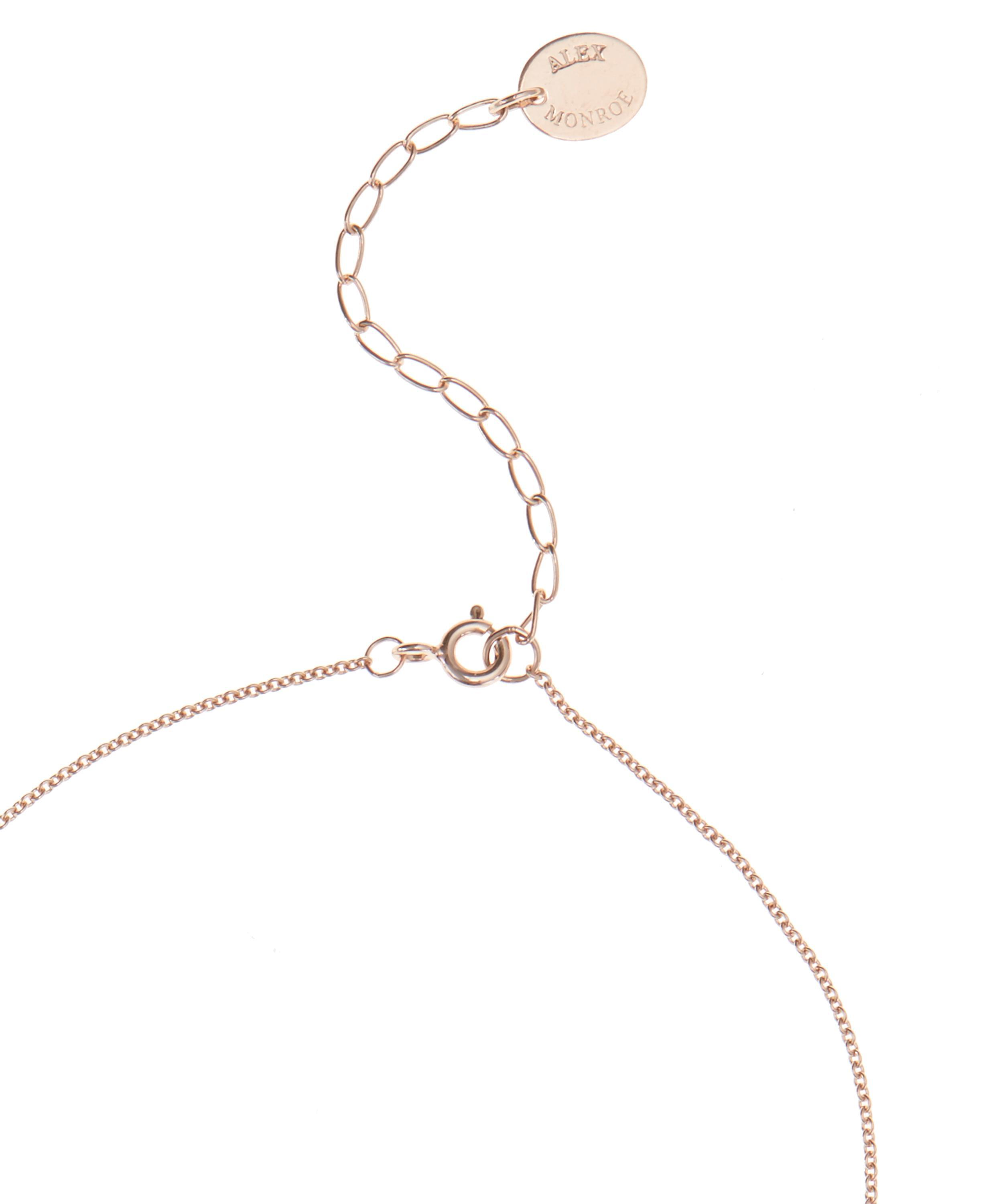 Alex Monroe Rose Gold Baby Bee Necklace in Pink