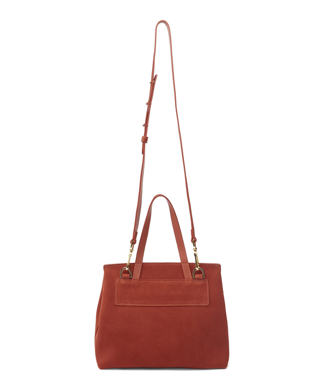 Mansur Gavriel Suede Mini Lady Tote Bag in Brick (Red)